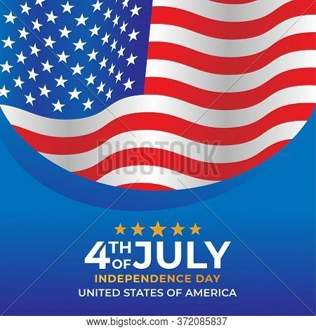 Happy 4th of July. USA Independence Day Vector Design Background. 4th of July Happy Independence Day Poster. Fourth of July Independence Day. Fourth of July vector background design. USA Independence Day banner background Vector illustration.