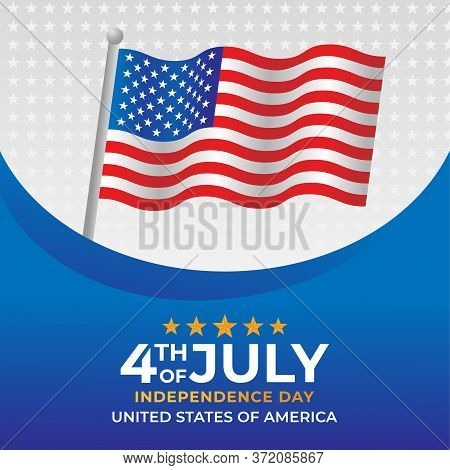 Happy 4th of July. Fourth of July Independence Day of United States of America Vector background. US Independence Day Vector. Happy Independence Day of USA. Fourth of July vector background design. USA Independence Day banner Vector design.