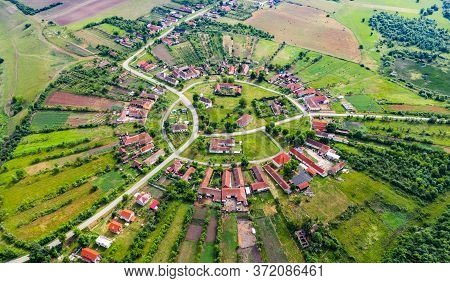 Charlottenburg, Romania - Round Village Banat Region Western Transylvania Built By Germans