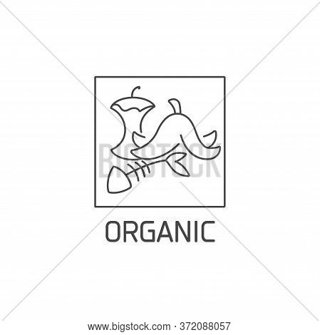 Vector Logo, Badge And Icon For Natural And Organic Waste. Biodegradable Product Sign Design. Symbol