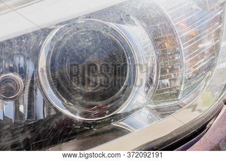 Car Headlight,scratches, Dust, Old Decrepit Light Flare Texture Light