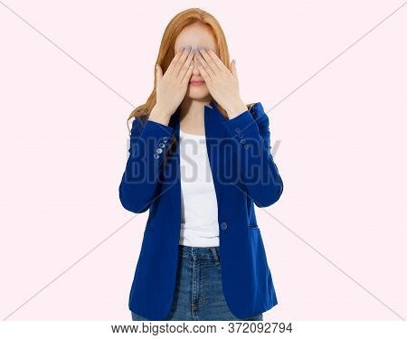 Woman Do Face Palm, Girl Make Facepalm, Female Migraine, Head Pain, Bad Feeling, Tired Woman