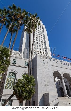 Los Angeles, California, Usa - 11 June 2015: Los Angeles City Hall, The Center Of The Government Of