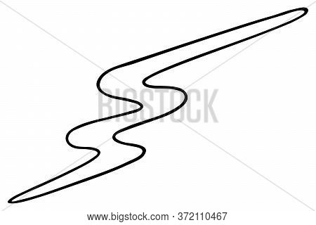 Lightning. Vector Illustration. Esiz. Electric Discharge. Sparkle Brightly. Outline On An Isolated W