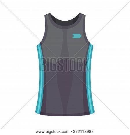 Training Top Or Sports Sleeveless Shirt As Track Womenswear Vector Illustration