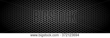 Texture Panorama Of Metal With Reflection With Perforation - Illustration