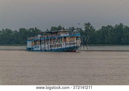 Sundarbans, Bangladesh - November 14, 2016: M. V. Dinghy Ship Of The Bengal Tours. During Sundarbans