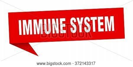 Immune System Banner. Immune System Speech Bubble. Immune System Sign