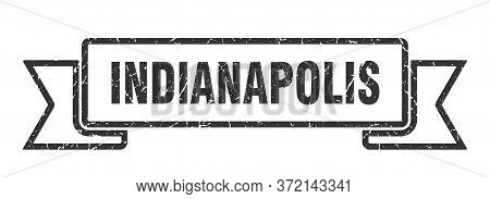 Indianapolis Ribbon. Black Indianapolis Grunge Band Sign