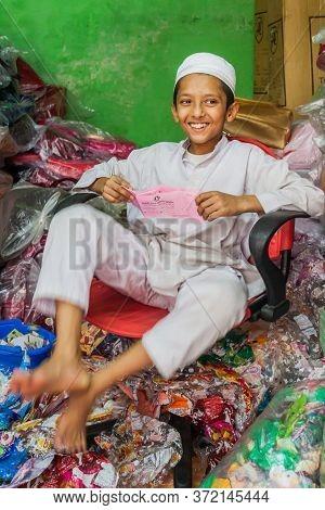 Khulna, Bangladesh - November 17, 2016: Muslim Boy In Khulna Bangladesh