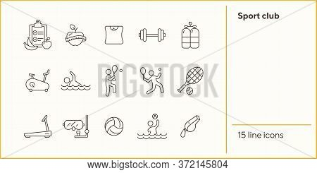 Sport Club. Sportsman, Tennis, Game. Physical Activity Concept. Can Be Used For Topics Like Weightlo