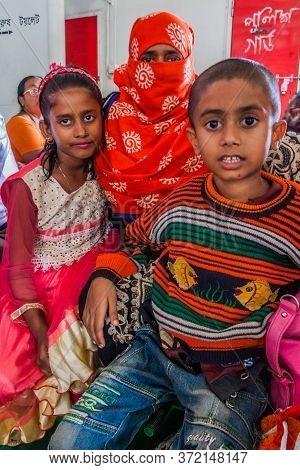 Morrelganj, Bangladesh - November 19, 2016: Passengers Of The Third Class Of Mv Modhumoti Ship, Bang