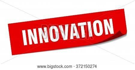 Innovation Sticker. Innovation Square Isolated Sign. Innovation
