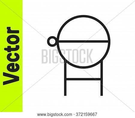 Black Line Barbecue Grill Icon Isolated On White Background. Bbq Grill Party. Vector Illustration.