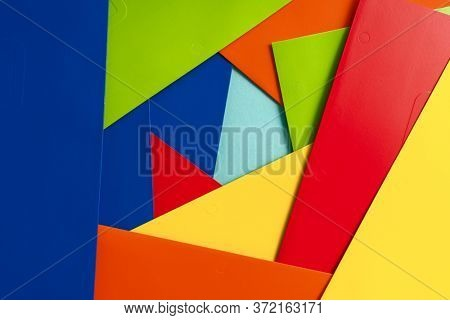 Abstract geometric paper on background.