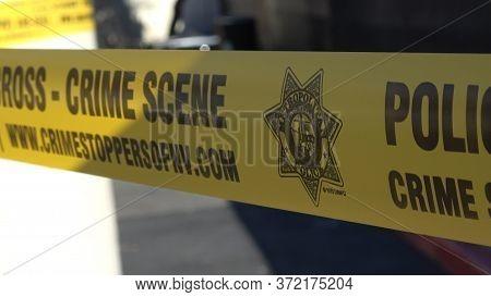 Police Line Crime Scene - Do Not Cross Tape - Las Vegas-nevada - October 11, 2017