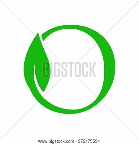 Simple Clean And Charming Logo Design Initial O Combining With Leaf.