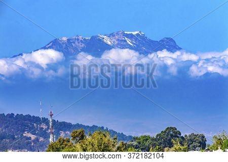 Snow Topped Iztaccihuatl Volcano Cholula Puebla Mexico