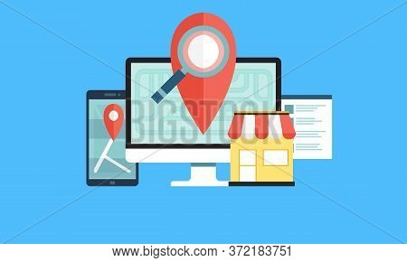 Help Customers Find Local Business Concept Illustration