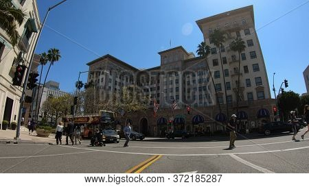 Beverly Wilshire Hotel In Beverly Hills - Los Angeles. United States Of America - March 18, 2019
