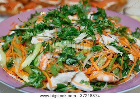 Shrimp Prawn Pork Salad