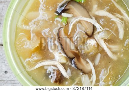 Close Up Hot Braised Fish Maw - Thailand Healthy Food