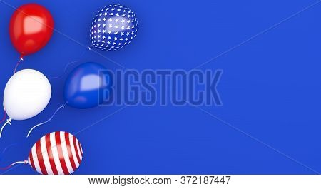 Happy 4th Of July. Happy Independence Day Of Usa. Fourth Of July Background Design. Greeting Card, B
