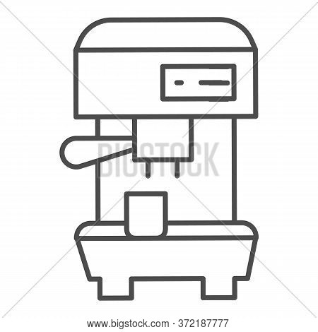 Coffee Machine Thin Line Icon, Household Appliances Concept, Electric Appliance For Making Coffee Si