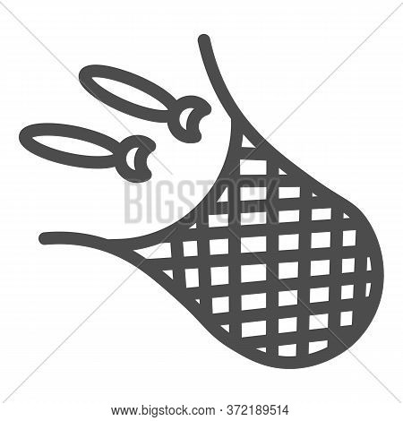 Net With Fish Line Icon, Fishing Concept, Fishnet Sign On White Background, Fishing Net Icon In Outl