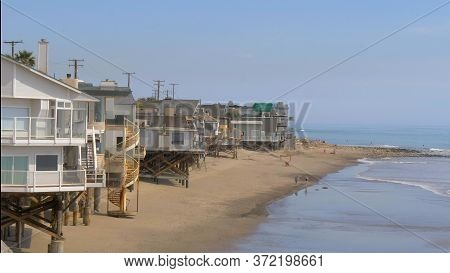 Malibu Beach At The Pacific Coast Highway - Malibu, United States - March 29, 2019