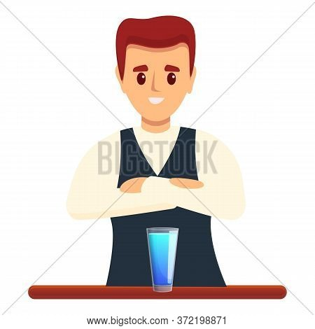 Bartender Cocktail Icon. Cartoon Of Bartender Cocktail Vector Icon For Web Design Isolated On White