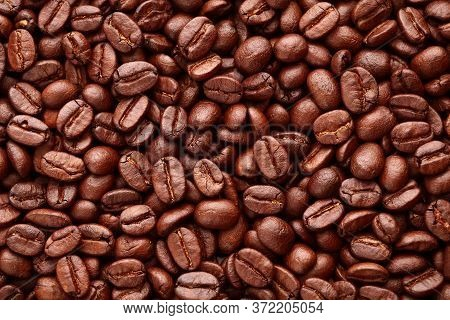 Roasted Coffee Beans Use For A  Background