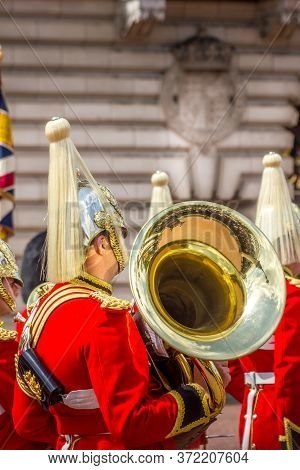 London, England - 13 May, 2011: The Changing Of The Guards Performed By Her Majesty's Coldstream Reg