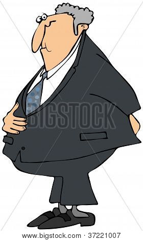 Businessman with a stomach ache