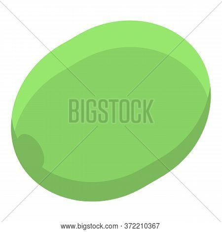 Whole Green Olive Icon. Isometric Of Whole Green Olive Vector Icon For Web Design Isolated On White