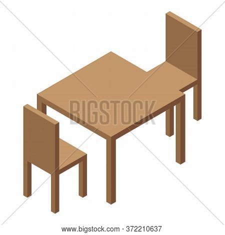 Kindergarten Furniture Icon. Isometric Of Kindergarten Furniture Vector Icon For Web Design Isolated