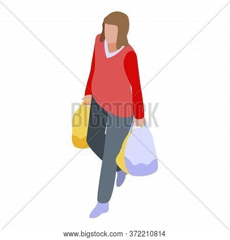 Shopping Buyer Icon. Isometric Of Shopping Buyer Vector Icon For Web Design Isolated On White Backgr