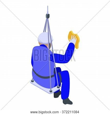 Window Industrial Climber Icon. Isometric Of Window Industrial Climber Vector Icon For Web Design Is