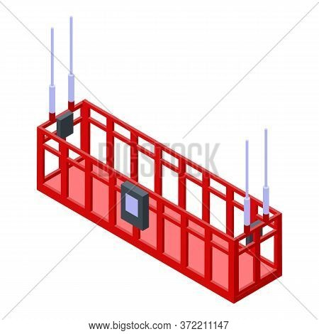 Industrial Climber Lift Icon. Isometric Of Industrial Climber Lift Vector Icon For Web Design Isolat