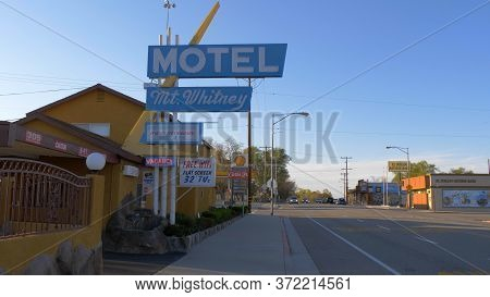 Mount Whitney Motel In The Historic Village Of Lone Pine - Lone Pine Ca, United States - March 29, 2