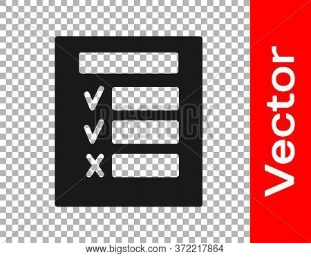 Black Car Inspection Icon Isolated On Transparent Background. Car Service. Vector Illustration
