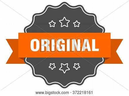 Original Isolated Seal. Original Orange Label. Original