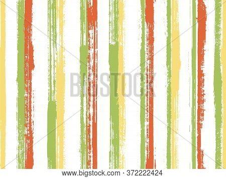 Pain Thin Rough Stripes Vector Seamless Pattern. Old Texture Swimwear Marine Design. Retro Texture R