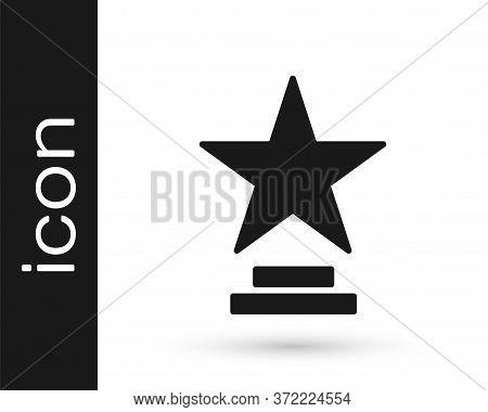 Grey Movie Trophy Icon Isolated On White Background. Academy Award Icon. Films And Cinema Symbol. Ve