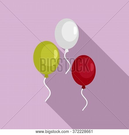 Mexican Balloons Flag Icon. Flat Illustration Of Mexican Balloons Flag Vector Icon For Web Design