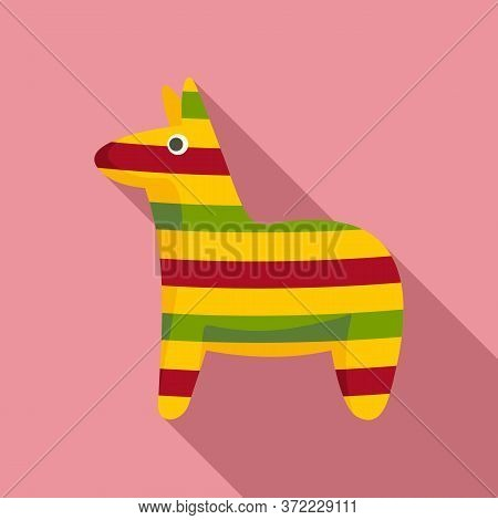Mexican Colorful Horse Icon. Flat Illustration Of Mexican Colorful Horse Vector Icon For Web Design