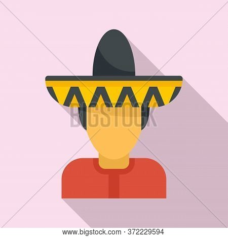Mexican Man Avatar Icon. Flat Illustration Of Mexican Man Avatar Vector Icon For Web Design