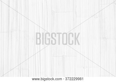 Bamboo Wall Texture Background, Top Down Of Wooden Floor For A Background, Pattern And White Soft Wo