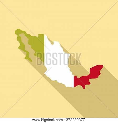 Mexico Territory Icon. Flat Illustration Of Mexico Territory Vector Icon For Web Design