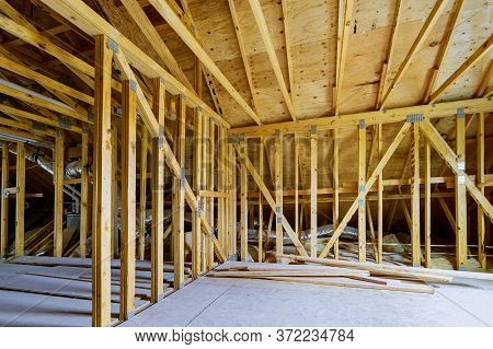 Roofing Framing Beam Of New House Under Construction Home Beam Construction Of Attic Apartment